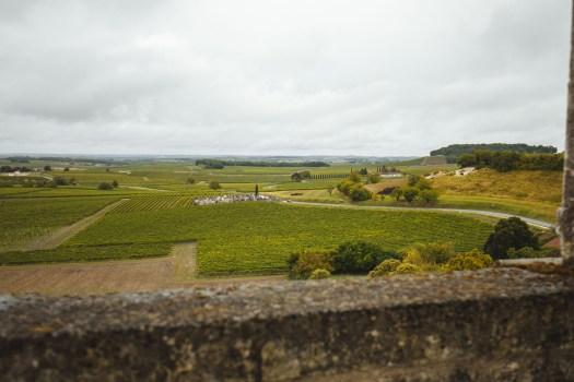 vue chateau de bouteville