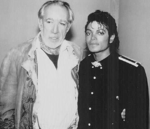 with Anthony Quinn Washington, DC during the Victory Tour stop and Michael's visit to see Quinn's Zorba performance 09 1984