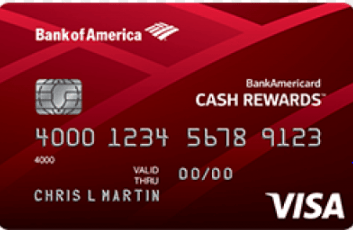 BankAmericard Cash Rewards for Student Visa Credit Card