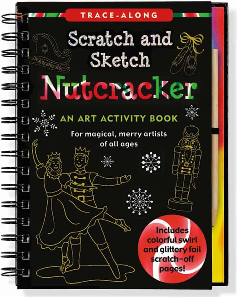 Nutcracker scratch art book