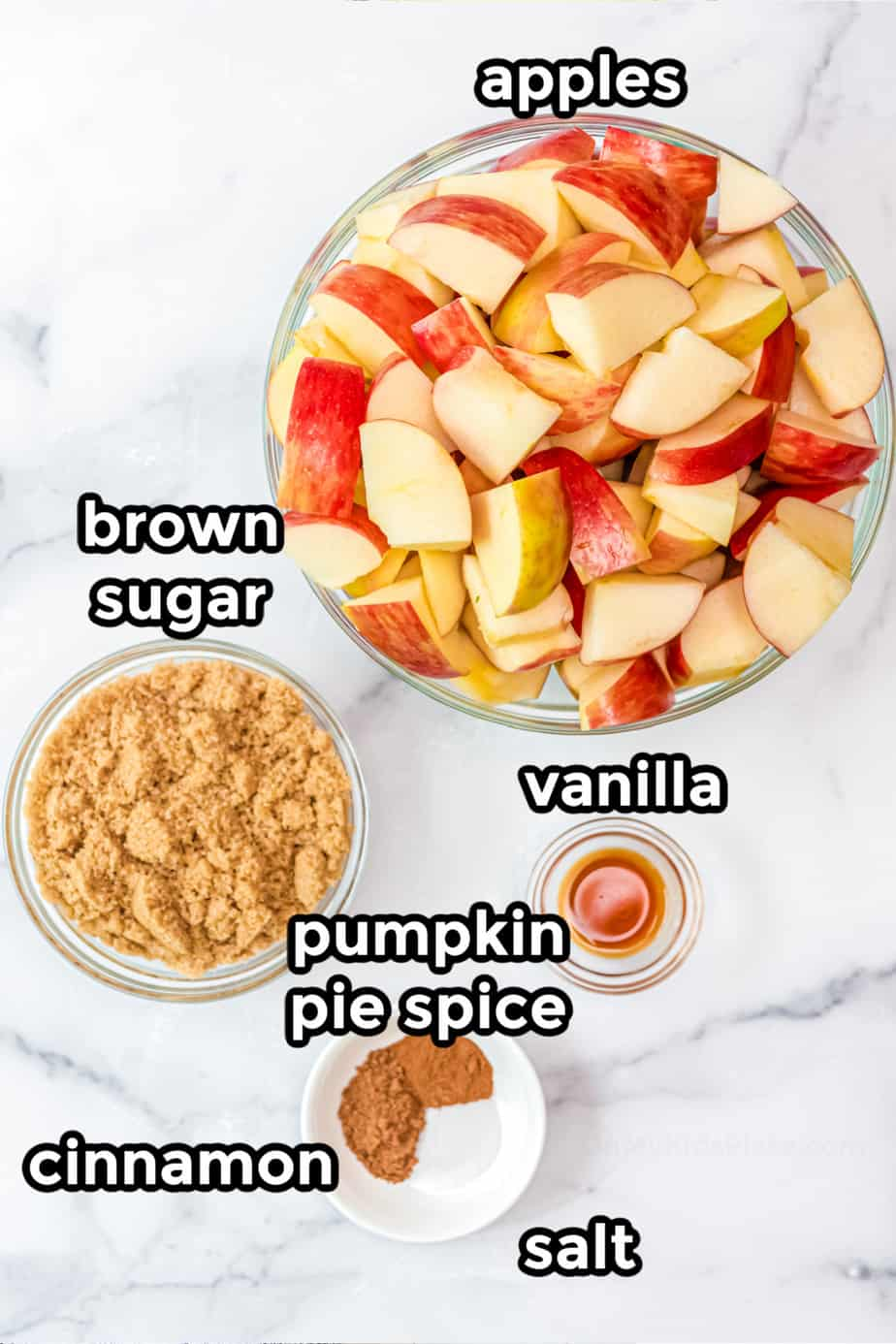 ingredients for apple butter
