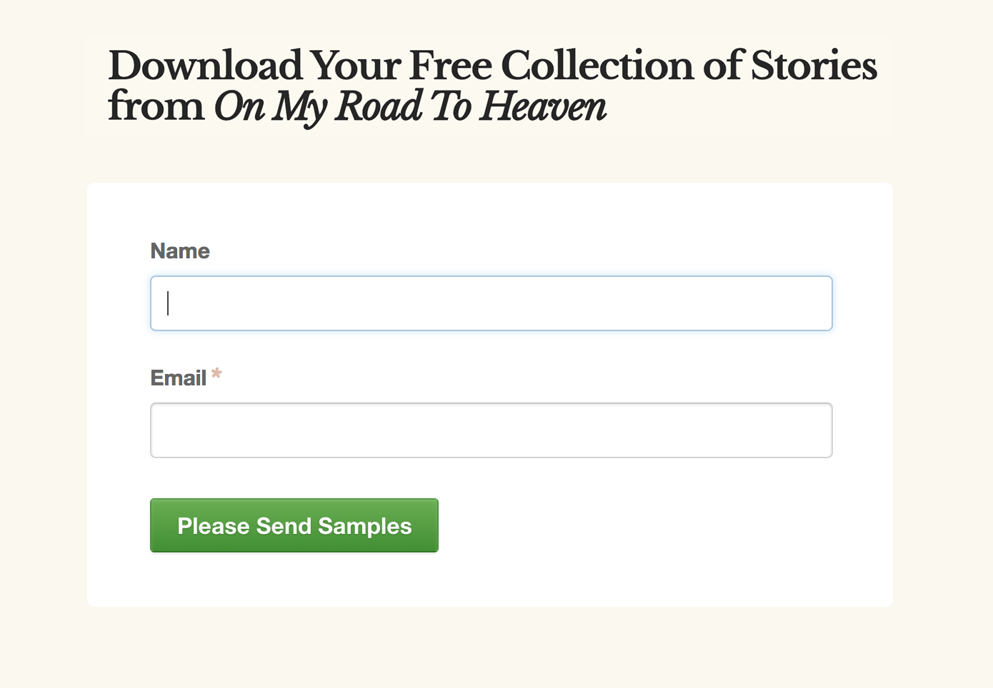Click To Receive Your Story Samples