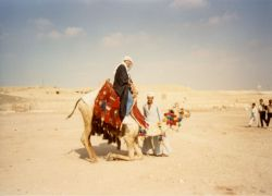 A camel ride in Egypt