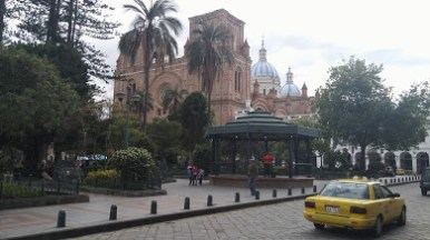The most famous church in Cuenca., the Church of the Immaculate Conception.