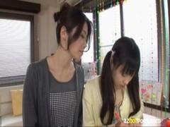 北条麻紀が妹系貧乳娘をレズ調教するrezu動画