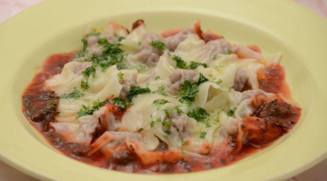 トルコ風水餃子 -トマト・パセリバターソース