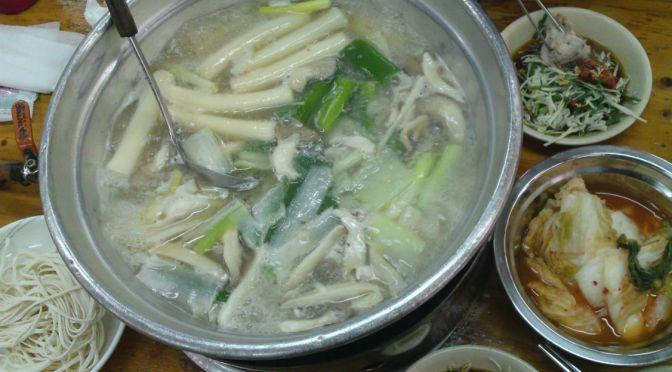 韓国ソウル「元祖ウォンハルメ・ソムンナン・タッカンマリ」韓国式鶏の水炊き