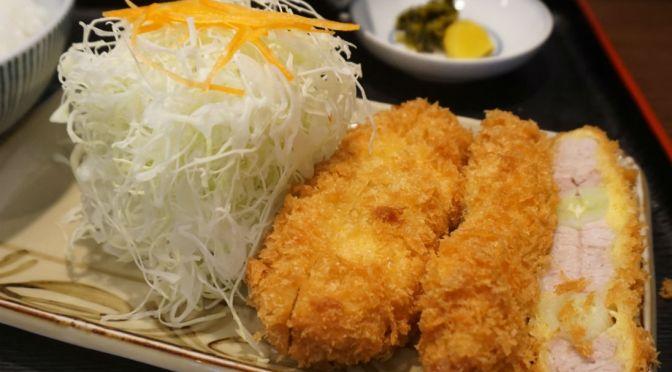 巣鴨「とん平」店一番人気の絶品の串かつ定食、旨し!