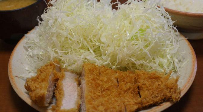 新宿「卯作」あまり知られていないコスパよく実に美味しいトンカツ屋