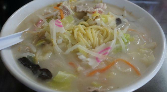 新板橋「長崎ちゃんぽん・ぽんた」美味しい長崎ちゃんぽん、特に麺が旨いね~、入って大正解。