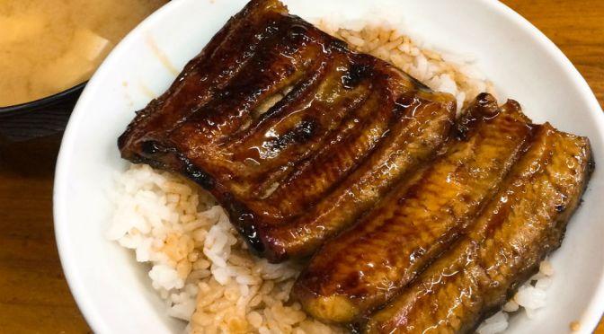 大森海岸「今丁」艶々のうな丼の焼き具合、タレの塩梅いいね。〆に茶漬けとは憎い演出。