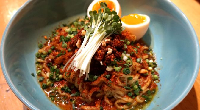 小川町「担々麺辣椒漢」辛味、塩気、酸味が絶妙、メチャ旨の正宋担々麺。