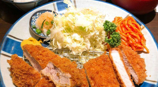 高田馬場「とん久」ランチに新たなメニュー。ヒレとロースの合い盛り定食が登場。
