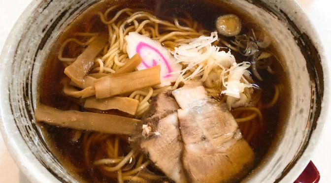 本蓮沼「赤おに。」しみじみ美味しい醤油ラーメンと辛みそラーメン。