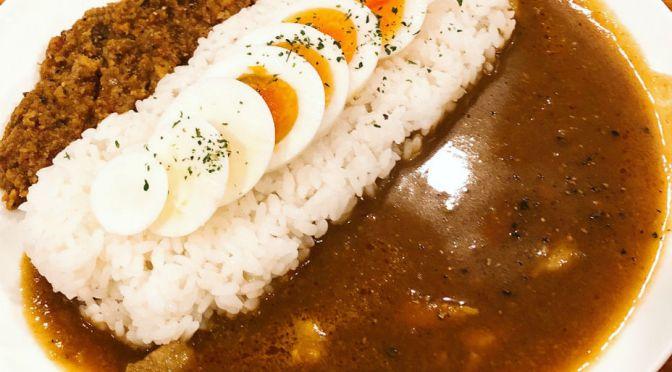三河島「カレー&バー アルム」プレーンカレー、キーマカレー双方秀逸の美味しさ。