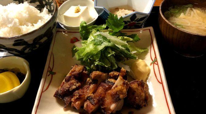 秋葉原「赤津加」老舗居酒屋の昼の定食。やっぱこの店はいいな。