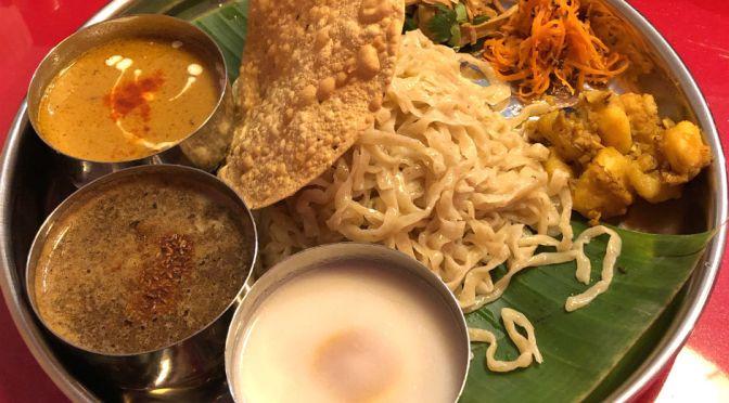 池袋「スパイスらぁめん釈迦」インド式ミールスつけ麺、実に旨し!