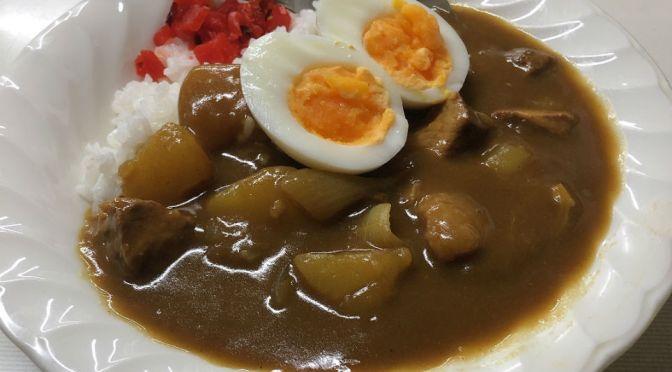 大久保「あづま家」月曜日限定のカレーライス旨し。冷やし中華も文句なしの美味しさ。