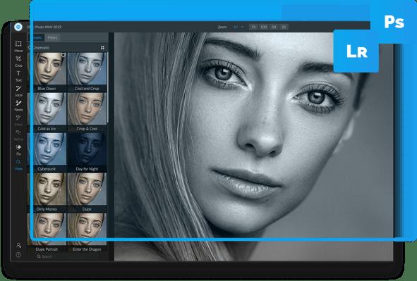 plugins Adobe Photoshop 2019  effet ON1