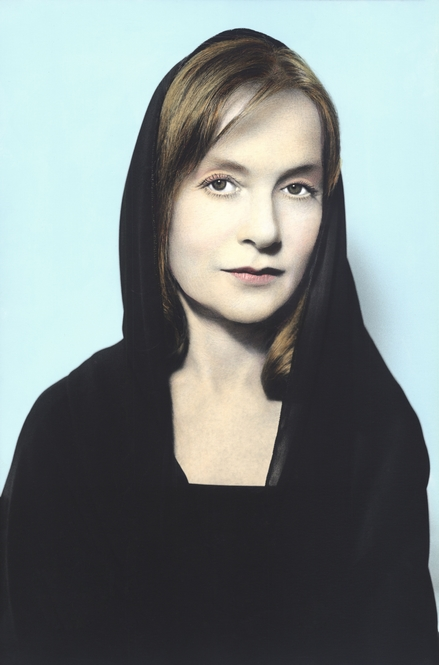 Youssef Nabil - Isabelle Huppert, Paris, 2012 Hand colored gelatin silver print Courtesy of the Artist and Nathalie Obadia Gallery, Paris/ Brussels