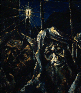 Jacob Steinhardt, Jews Praying, 1918.