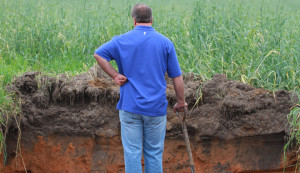 A soil pit of this degree is overkill for these purposes.  It does give you an idea of what you can learn when you dig.  NOAA photo by Brian Kahn