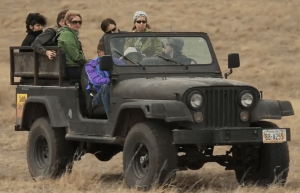 Sandhills Safari jeep tours of the ranch give visitors a chance to learn more about how the ranching and wildlife habitat can work hand in hand. Photo from WWF video
