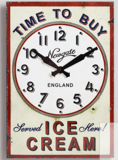Knowing Troy's love of ice cream and everything that goes on it, On Pasture recently gifted him with this clock, just in case he forgets what time it is.