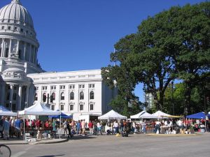 Dane County Farmers' Market in Madison, WI is reputed to be the largest, producer only market in the U.S.