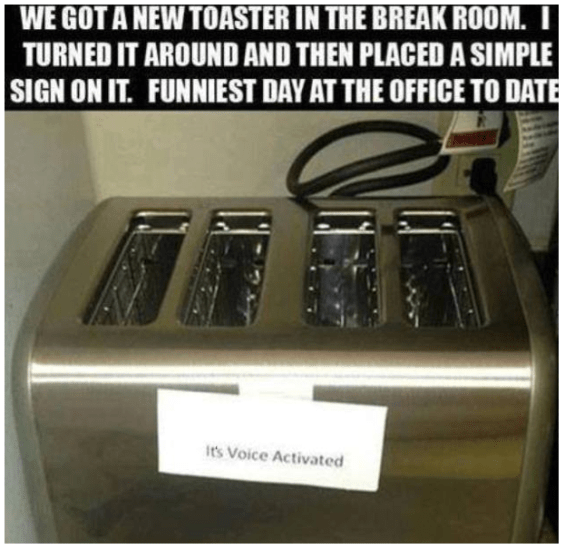 Tell the truth - you'd talk to the toaster wouldn't you!