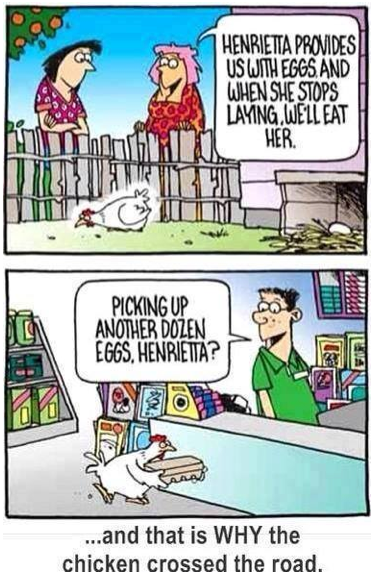 Why the Chicken Crosses the Road