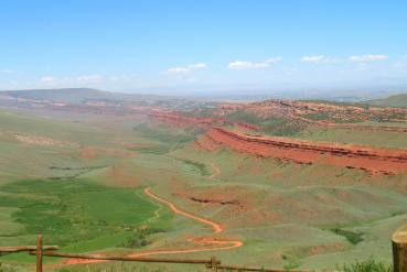 A view of the Red Canyon Ranch area outside Lander, Wyoming