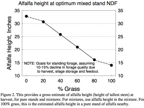Dr. Cherneys NDF Alfalfa height graph