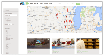 Customers can search by location if they're interested in supporting local producers