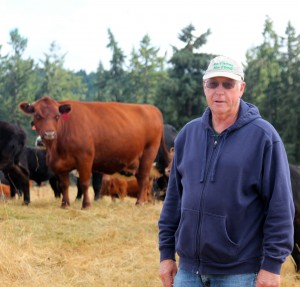 Fred Colvin, owner of Colvin Ranch in Tenino, WA. (Photo by Sylvia Kantor, WSU)