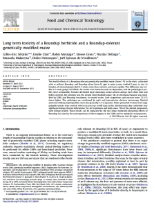 The Séralini paper does a good job of showing you all the parts to a good scientific paper.  You can read his paper by clicking here.