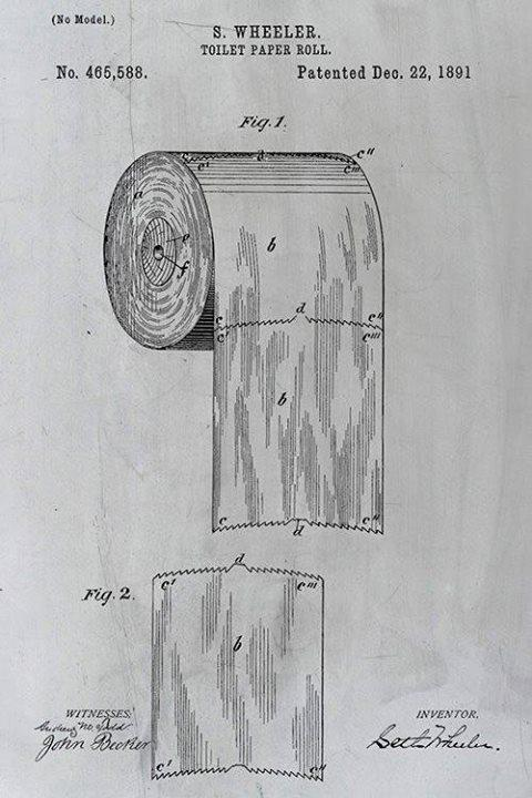 toilet paper controversy ended by the inventor on pasture. Black Bedroom Furniture Sets. Home Design Ideas