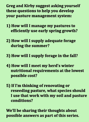 Season Long Forage Planning Questions
