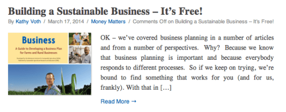 Building a Sustainable Business Plan