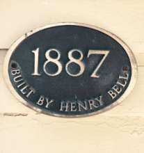 Henry Bell built the house Rachel and her family live in. We hope he would approve of the new addition!