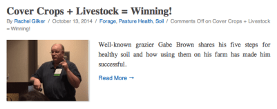 Cover Crops plus livestock equals winning
