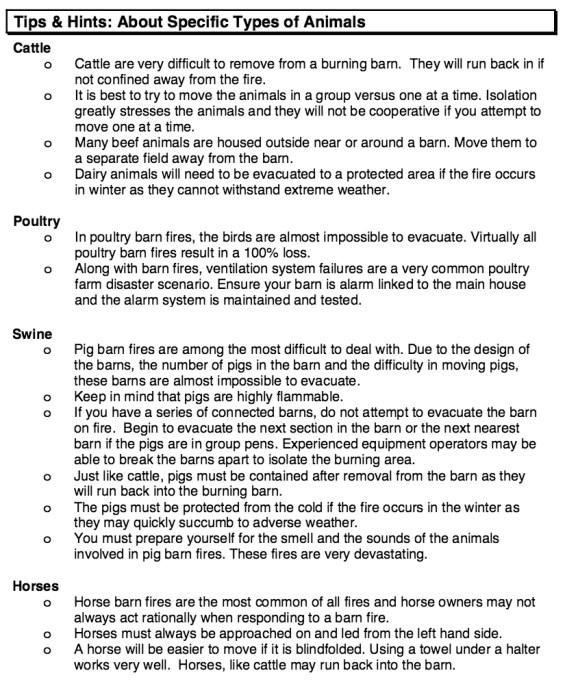 Animal Evacuation Tips