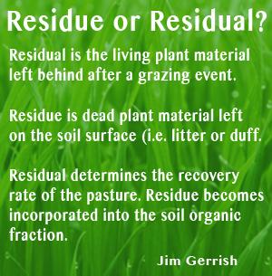 ResidueVSResidual
