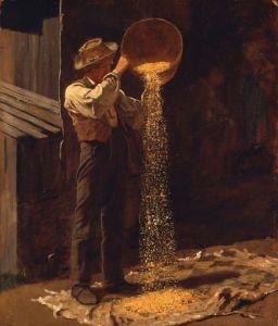 Winnowing Grain by Eastman Johnson, about 1873–79