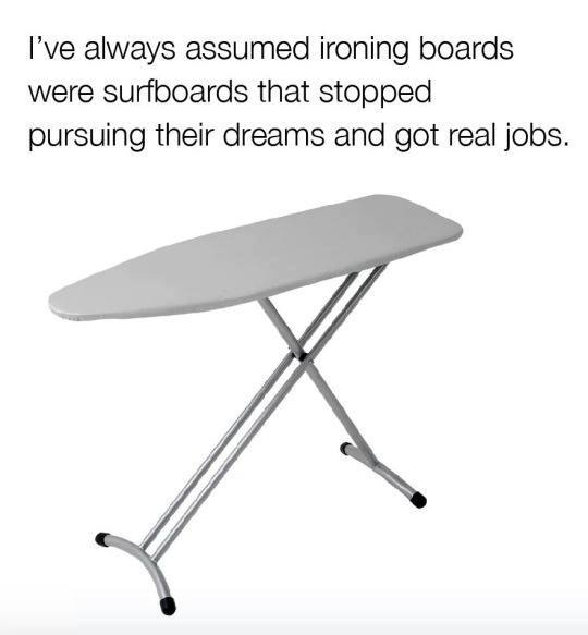 Surfing Ironing boards