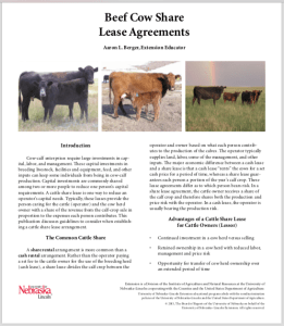 Are Your Cow Calf Share And Cash Lease Agreements Up To Snuff On