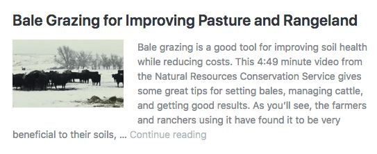 Bale grazing is a good tool for improving soil health while reducing costs. In this video, Montana ranchers describe how well it has worked for them.