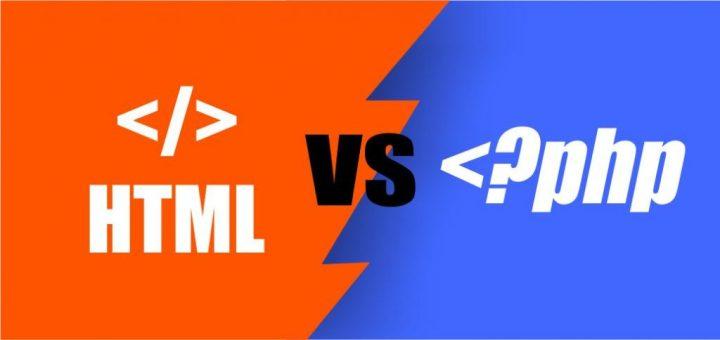 Perbedaan, hubungan antara PHP dan HTML