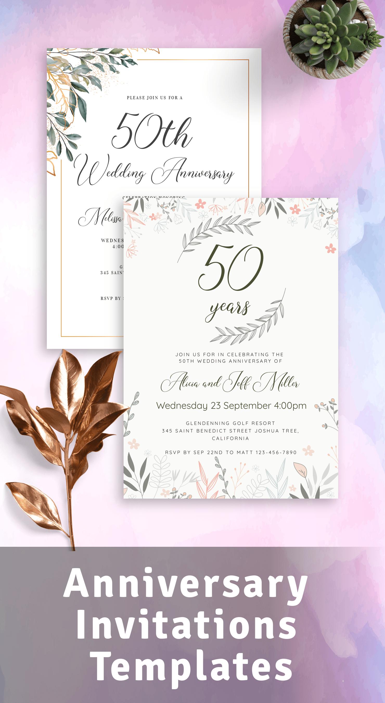 anniversary invitations download pdf