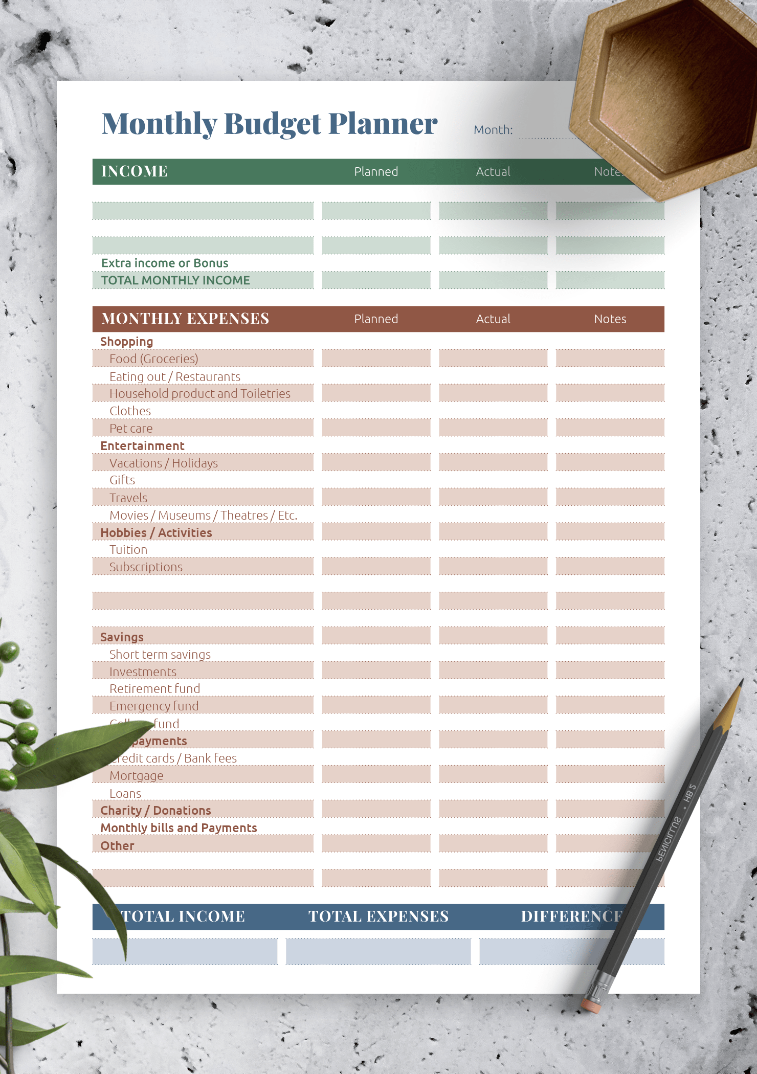 Budget Planner Printable That Are Old Fashioned